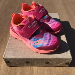 Saucony Toddler Girls Lite Foam Pink Shoes 10